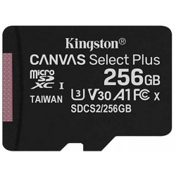 Tarjeta MicroSD 256GB Kingston Canvas Select Plus