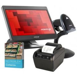 Pack Comercio Posiflex TPV + Impresora + Lector Codigos de Barra + Software