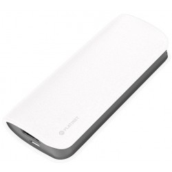 Bateria Externa 5200 Platinet Cuero Blanco