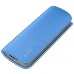 Bateria Externa 5200 Platinet Cuero Azul