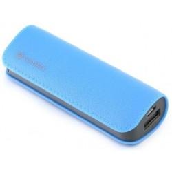 Bateria Externa 2600 Platinet Cuero Azul
