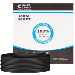 Cable de Red Cat.6 UTP Exterior Rigido 100m Nanocable Negro