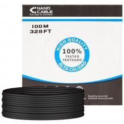 Cable de Red Cat.5e UTP Exterior Rígido 100m Nanocable Negro