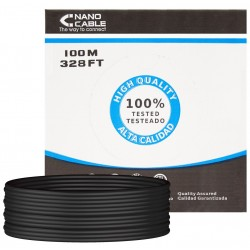 Cable de Red Cat.5e UTP Exterior Rigido 100m Nanocable Negro