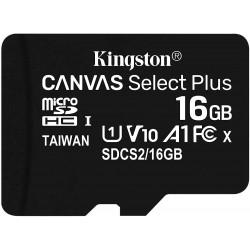 Tarjeta MicroSD 16GB Kingston Canvas Select Plus Sin Adaptador