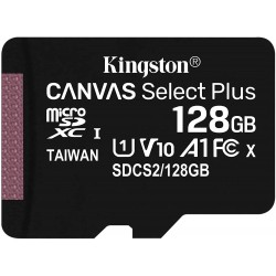 Tarjeta MicroSD 128GB Kingston Canvas Select Plus sin Adaptador