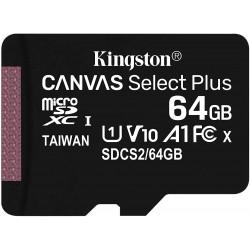 Tarjeta MicroSD 64GB Kingston Canvas Select Plus Sin Adaptador