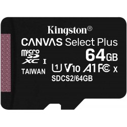 Tarjeta MicroSD 64GB Kingston Canvas Select Plus Sin Adaptador