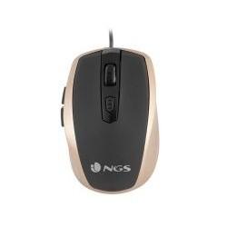 Ratón NGS Óptico USB Dorado...