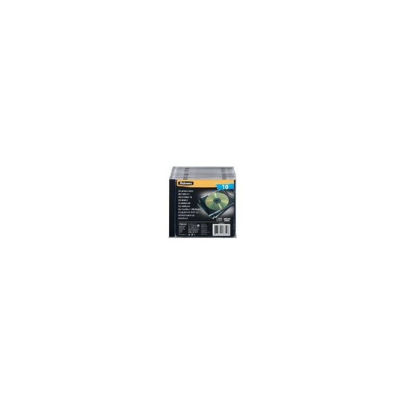 Fellowes Cd Jewell Box Pack 10UD Transparent