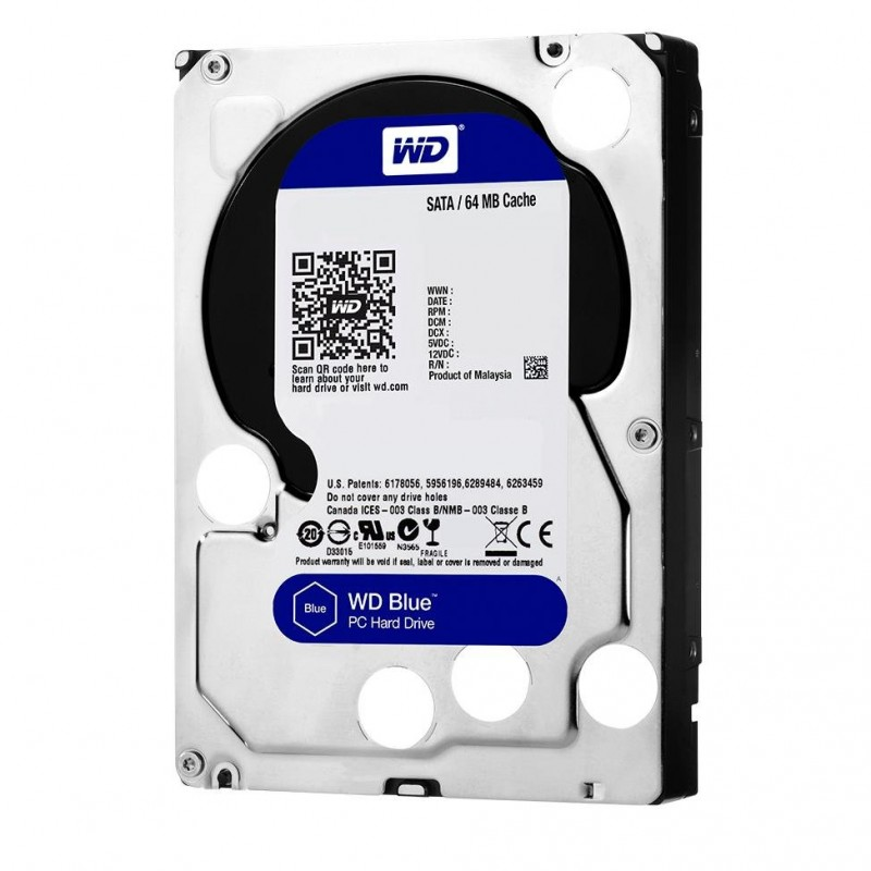 "Disco Duro SATA 3,5"" 1TB Western Digital Blue 5400"
