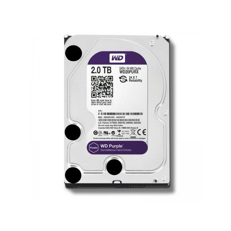 """Disco Duro SATA 3,5"""" 2TB WD Purple WD20PURX"""