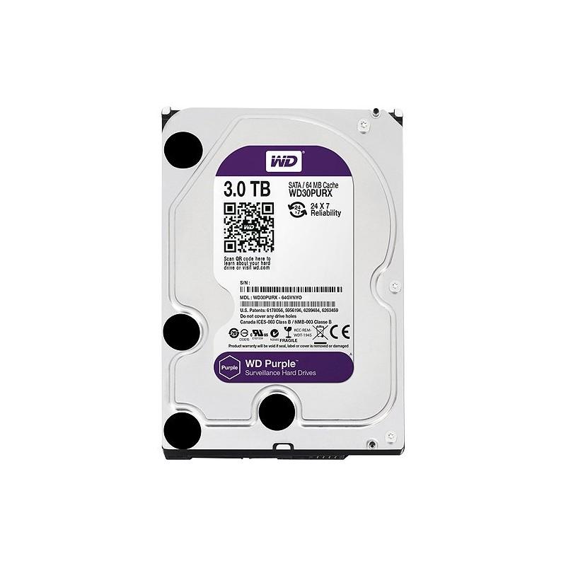 """SATA Hard Drive 3.5 """"3TB WD Purple WD30PURX"""
