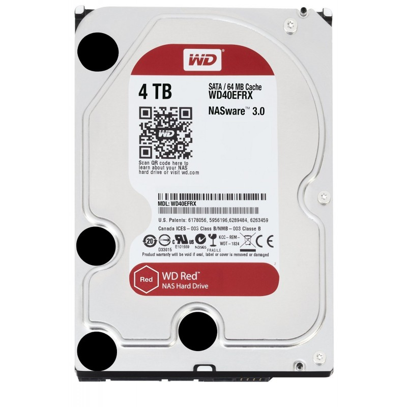 """SATA Hard Drive 3.5 """"4TB WD Red WD40EFRX"""