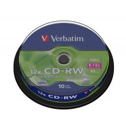 CD-RW Tarrina 10 Unidades Verbatim