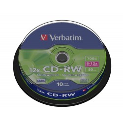 CD-RW Verbatim Tarrina 10 Units