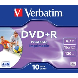 DVD+R 10 Unidades Verbatim Printables