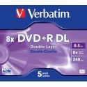 DVD + R DL 5 Units Verbatim
