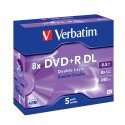 DVD+R DL 5 Unidades Verbatim