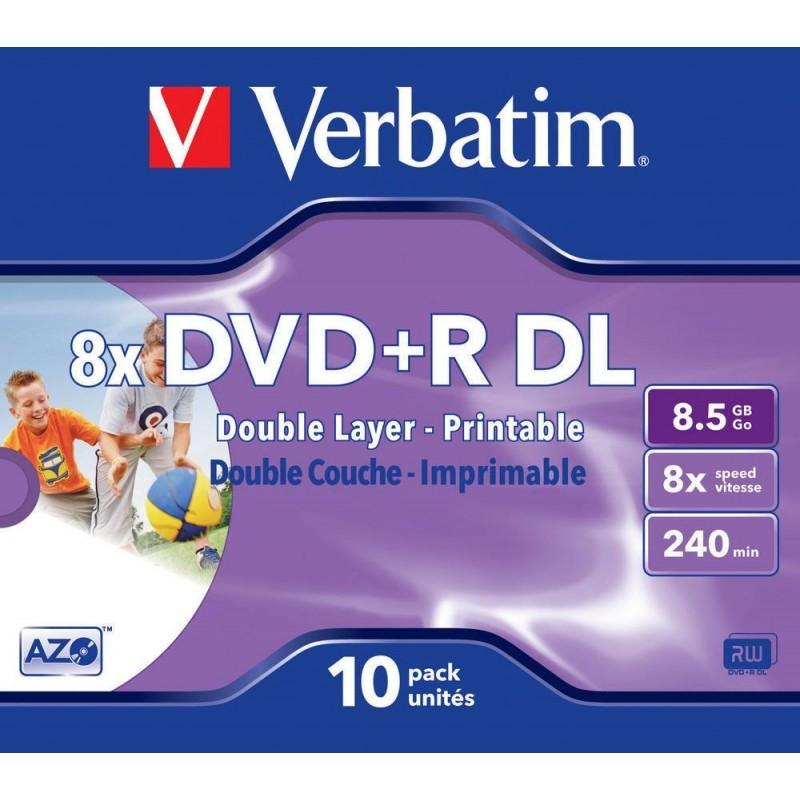 DVD + R DL 10 Units Verbatim Printables