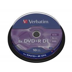 DVD+R DL Tarrina 10 Unidades Verbatim