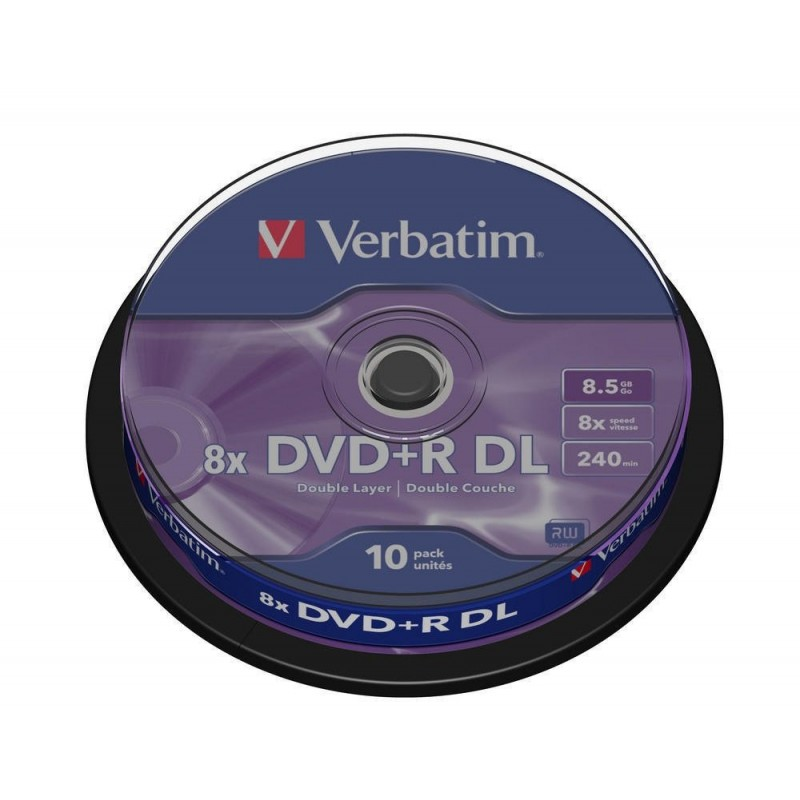 DVD + R DL Tarrina 10 Units Verbatim