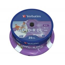 DVD + R DL Tarrina 25 Units Verbatim Printables