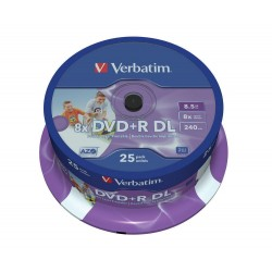 DVD+R DL Tarrina 25 Uds...