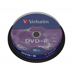 DVD+R Tarrina 10 Unidades Verbatim
