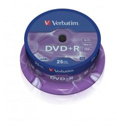 DVD+R Tarrina 25 Unidades Verbatim