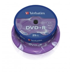 DVD + R Verbatim Tarrina 25 Units