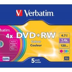 DVD+RW 5 Unidades Verbatim...