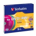 DVD+RW 5 Unidades Verbatim Colores