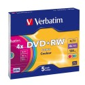DVD + RW Colors Verbatim 5 Drives