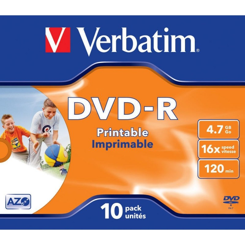DVD-R 10 Units Verbatim Printables