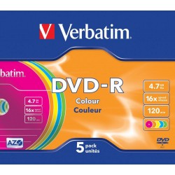 DVD-R 5 Units Verbatim Colors