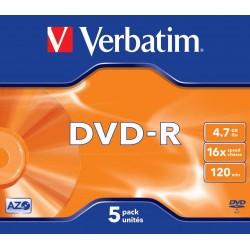 DVD-R 5 Unidades Verbatim
