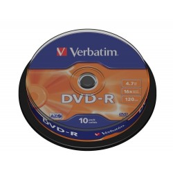DVD-R Tarrina 10 Units Verbatim