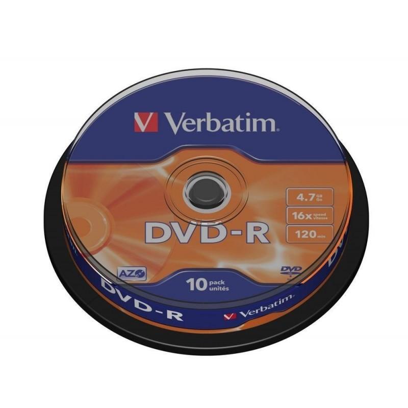 DVD-R Tarrina 10 Units Verbatim