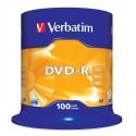 DVD-R Tarrina 100 Unidades Verbatim