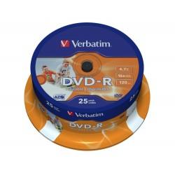 DVD-R Tarrina 25 Unidades Verbatim Printables