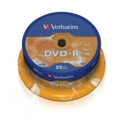 DVD-R Tarrina 25 Unidades Verbatim