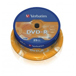 DVD-R Verbatim Tarrina 25 Units