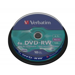 DVD-RW Verbatim Tarrina 10 Units