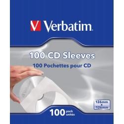 Fundas para CD o DVD 100 Unidades Verbatim