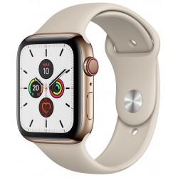 Apple Watch Series 5 GPS+Cellular 40mm Acero Inoxidable Dorado con Correa Deportiva color Piedra