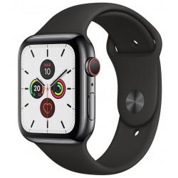 Apple Watch Series 5 GPS+Cellular 40mm Acero Inoxidable Negro Espacial con Correa Deportiva Negra
