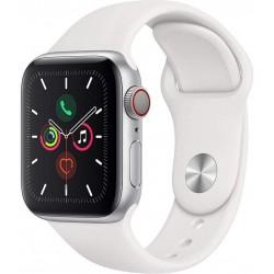Apple Watch Series 5 GPS+Cellular 40mm Aluminio Plata con Correa Deportiva Blanca