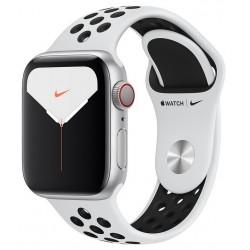 Apple Watch Series 5 Nike GPS+Cellular 40mm Aluminio Gris con Correa Deportiva Pure Platinum Negra