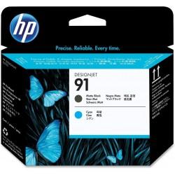 Cabezal de Impresión HP 91 Negro Mate/Cian C9460A